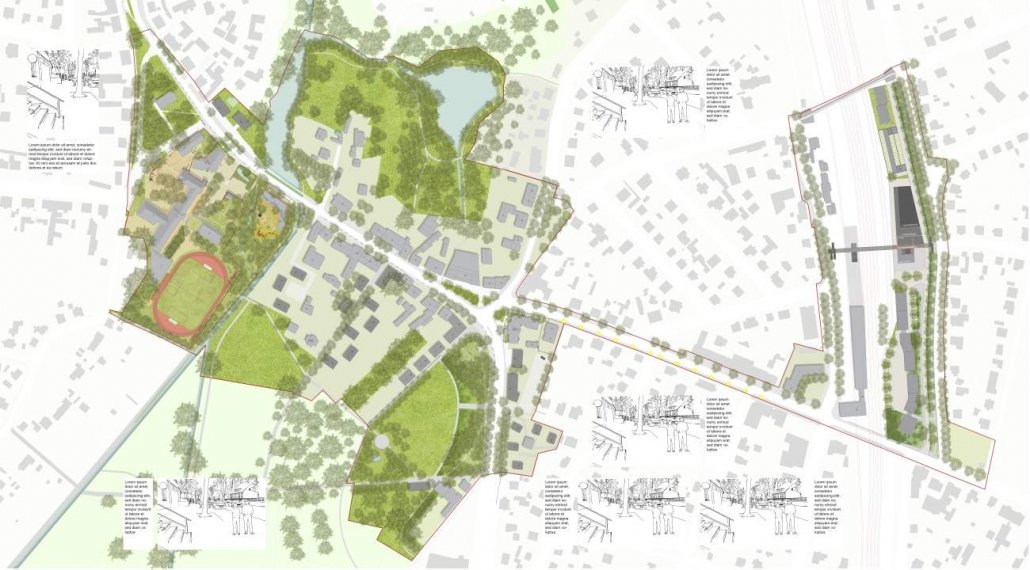 Bildungscampus, Rathaus und Mobility HUB - Birkenwerder, Brandenburg
