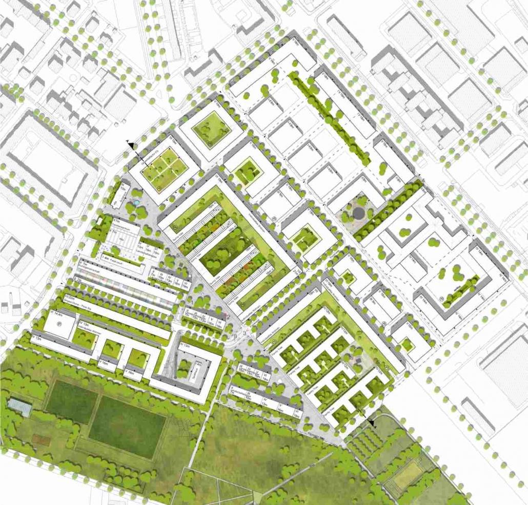 Strukturkonzept - Adlershof Berlin (2. Rang)